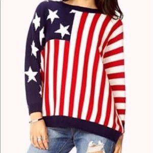 AMERICAN FLAG OVERSIZED SWEATER